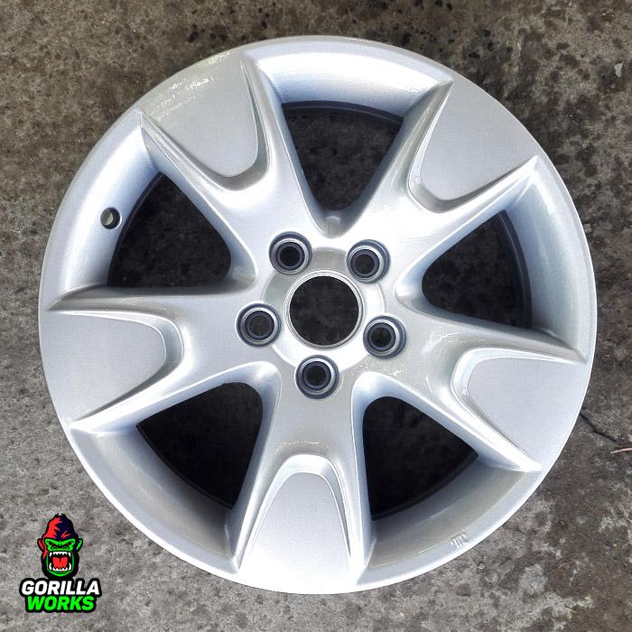 Литой автомобильный диск Skoda Fabia после порошковой покраски