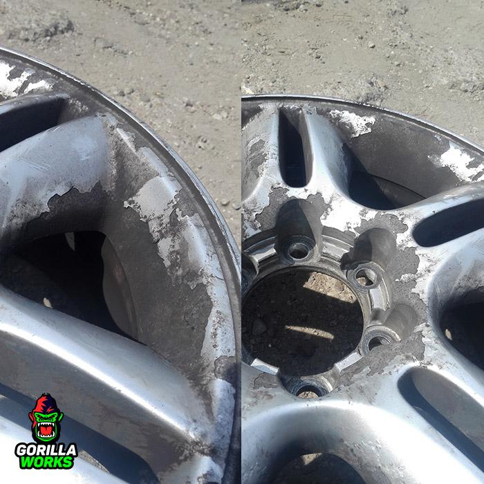Коррозия после зимы на литых дисках Lexus GX 460
