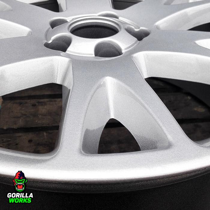 Полимерная порошковая покраска литого автомобильного диска в серебро