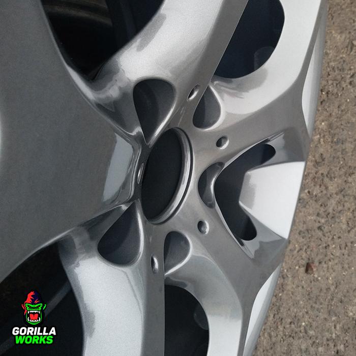Порошковая покраска дисков BMW X5 в светлый графит