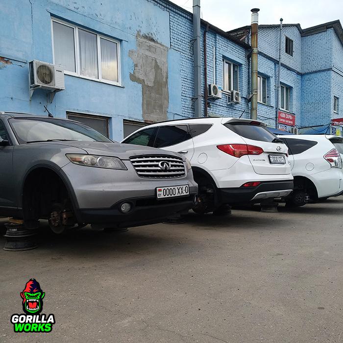 Бесплатный паркинг авто во время покраски дисков